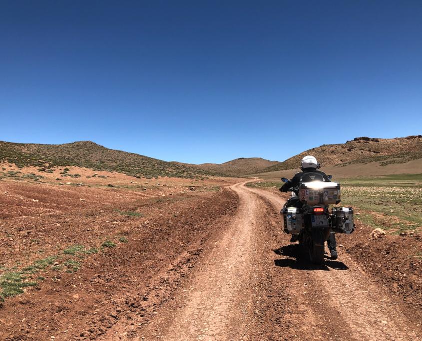Marruecos en moto. Gargantas de Dades-Ben Smim