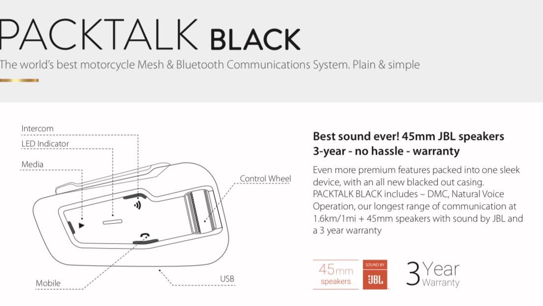 Pack talk black